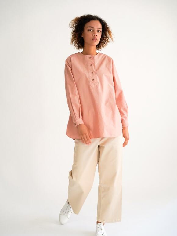 Rue de Tokyo - Rue de Tokyo Rue de Tokyo Shai Teracotta  Garment Dyed shirt